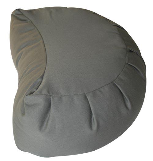 Buckwheat-Crescent-Zafu-Meditation-Cushion - Buckwheat Crescent Zafu Meditation Cushion EBay